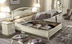 Nostalgia Night Bedroom offers ample storage for your bedding