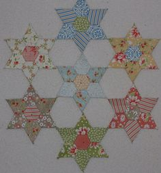 english paper piecing mylar templates | Flickr: The Jewel Stars - English Paper Piecing Pool
