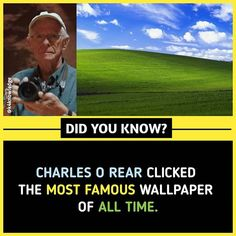 Most famous wallpaper of all time. True Interesting Facts, Some Amazing Facts, Interesting Facts About World, Intresting Facts, Unbelievable Facts, Amazing Science Facts, Wierd Facts, Wow Facts, Real Facts