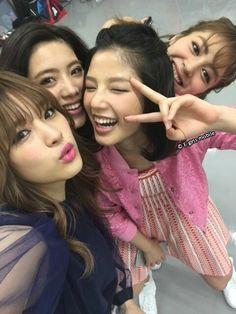 Kaede & Kawamoto Ruri & Miyuu & Ishii Anna Gyaru Fashion, China, Girls Dream, Happiness, Hairstyle, Culture, Friends, Celebrities, Happy