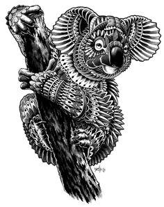 Ornate Koala by BioWorkZ , via Behance