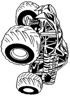 free printable monster truck coloring pages for kids | monster jam ... - Monster Truck Coloring Pages Free