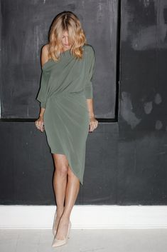 olive dress | inspiration