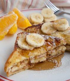 Вкусный завтрак: Гренки с бананом и корицей