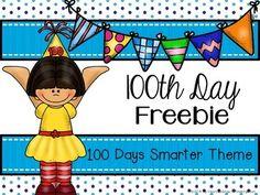 Day Printables {FREEBIE} Crowns, bookmarks, coloring pages and more! 100 Days Of School, School Holidays, School Fun, School Stuff, School Items, 100s Day, 100 Day Celebration, Hundred Days, Kindergarten Math