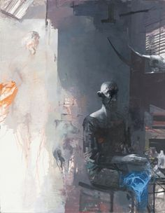 Aron Rink: Atelier II, 2011, Öl auf Leinwand, 180 x 140 cm