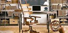 French Factory Metal | Home Office inspiration | Restoration Hardware