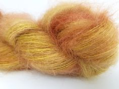 Harvest, Gold, Yellow, Copper, ColorPurl Adore Lace, Hand Dyed, Superfine Kid Mohair, Mulberry Silk, Lace Wght 458 yards, 50 gr