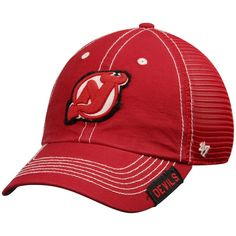 8c7fe00f674 Men s New Jersey Devils  47 Red Turner Clean Up Adjustable Hat