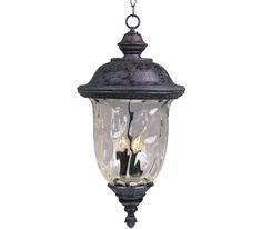 Maxim Lighting 3427WGOB Carriage House DC 3 Light Outdoor Pendant at Del Mar Fans & Lighting, with product video