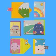 Monster Summer Cards 6Pk
