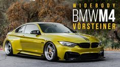 White BMW M4 Wide Body | Vorsteiner Widebody BMW M4 | Equipped with AccuAir - YouTube