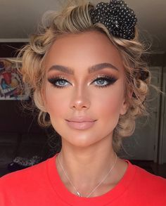 Natural Glam Makeup, Glam Makeup Look, Nude Makeup, Hair Makeup, Natural Eyeshadow Looks, Neutral Makeup Look, Eyelashes Makeup, Glamour Makeup, Nude Eyeshadow
