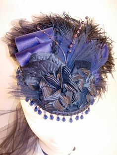 victorian purple hat.