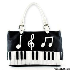 Keyboard Bag- Super Cute! Has pouches for cellphone and wallet so your stuff isn't lost! #piano #handbag