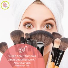 Clean brushes are essential for camera-ready skin and fresh looking makeup! The pros recommended: Parian Spirit Brush Cleaner for makeup brushes!  lmakeup | makeup trend | makeup tutorial | skincare products | makeup blog | makeup blogger | makeup artist | makeup goals | makeup art | Makeup lover | makeup love | makeup haul | makeup bag | makeup time | makeup geek | makeup life | makeup talk | makeup tips | makeup hoarder | beauty | skincare | cosmetics | beauty products | beauty | diy…
