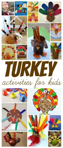 over 15 Thanksgiving Turkey Activities for Kids from Share It Saturday at www.fun-a-day.com
