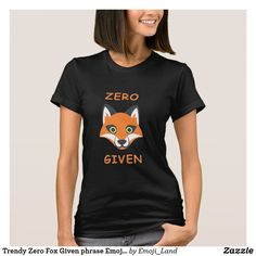 Trendy Zero Fox Given phrase Emoji Cartoon T-Shirt