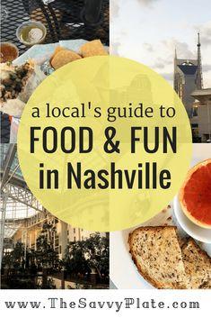A Local's Guide to Food & Fun in Nashville Nashville Restaurants Downtown, Nashville Food, Visit Nashville, Nashville Trip, Nashville Tennessee, Visit Tennessee, Food Places, Best Places To Eat, Tennessee Vacation
