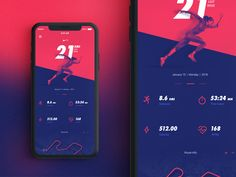 Nike Sports Application - Running Stats Layout and Dashboard Web Design & Web Development Mobile Application Design, Mobile Ui Design, App Ui Design, Design Websites, Layout Design, Sports App, App Design Inspiration, Interactive Design, Apps
