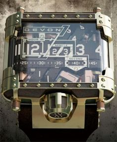 Incredible Steampunk Wristwatch. About a thousand times more than the last watch I bought, however. lol http://www.devonworks.com