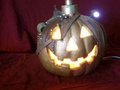 Steampunkin AKA by IsherCreations Steampunk Halloween, Halloween Jack, Baby Halloween, Halloween Pumpkins, Halloween Crafts, Halloween Decorations, Halloween Ideas, Foam Pumpkins, Steampunk Clothing