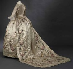 Marie Antoinette's original court dress by Rose Bertin, kept at the Royal Ontario Museum, permanent collection