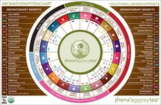 Gypsy Tea, the original spirit of tea - Aromatherapy Tea Chart   We Heart It