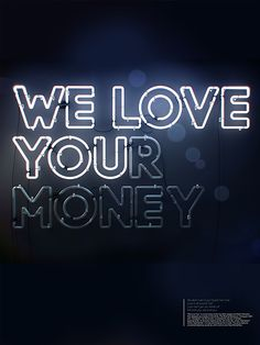 We love you(r money) blue version on Behance