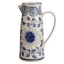 Buy John Lewis Maison Lidded Ceramic Blue Jug Online at johnlewis.com
