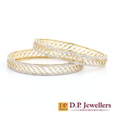 Rich Delicacy! Listen to the sweet melody of these graceful diamond bangles. #bangles #wedding #bridaljewellery #spring #collection2015 #trends2015 #ruby #diamondjewellery #bracelets #springwedding #love #ratlam #indore #udaipur