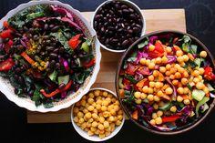- dolce far verde verde Big Salad, Grilled Chicken, Chana Masala, Salad Recipes, Salads, Beans, Vegetables, Ethnic Recipes, Food