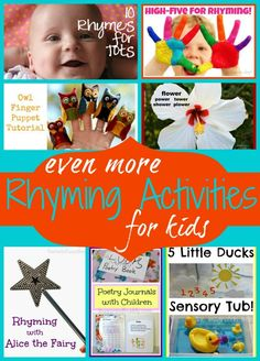 Even More Rhyming Activities for Kids