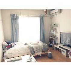 mintさんの、観葉植物,Bcompany,momo natural,IKEA,unico,ナチュラル,Francfranc,一人暮らし,賃貸,1K,狭くてもあきらめない,美しく暮らす,部屋全体,のお部屋写真