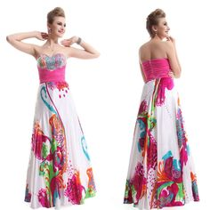 Ever Pretty Floral Printed Ruffles  Sequins Nwt Prom Gown 09633