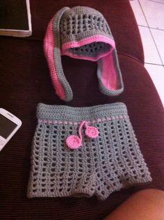 Feito por mim...crochê para minha filha 6meses...