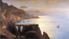 William Stanley Haseltine (1835-1900) - amalfi coast