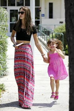 Am thinking I'll be rocking this look this summer: Crop Top and Maxi Skirt - Alessandra Ambrosios