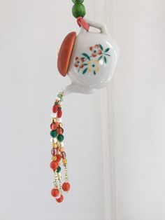 Hanging Candle Lanterns, Hanging Beads, Garden Decor Items, Acrylic Flowers, Glue Crafts, Hanging Wall Art, Plant Decor, Gifts For Mom, Tea Pots