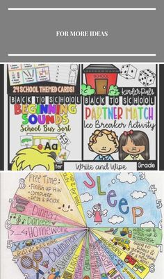 """Bundle """"Back to School Centres and Activities"""" #Aktivitäten #back_to_school_bul... - #Activities #Aktivitäten #backtoschoolbul #Bundle #Centres #School Schulaktivitäten Free Time, It Is Finished, Activities, Writing, Cards, School, Map, Playing Cards, A Letter"""