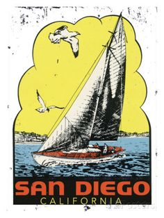San Diego, Califonia Giclee Print at AllPosters.com