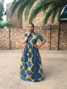 Maxi Ankara Dress..#SunshowerLove