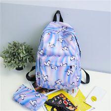 2PCS Unicorn Women Girls Nylon Backpack Handbag Rucksack Travel Bag School Bags
