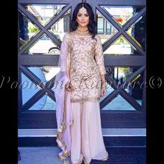 Pakistani Wedding Outfits, Pakistani Dresses, Indian Dresses, Indian Outfits, Sharara Designs, Kurti Designs Party Wear, Punjabi Fashion, Indian Fashion, Indian Designer Suits
