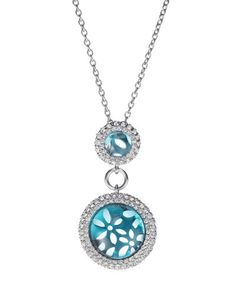 Look what I found on #zulily! Silver & Blue Floral Pendant Necklace #zulilyfinds