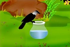 Learn how the thirsty crow solved its problem. A moral story in English for children, with pictures. English Moral Stories, Short Moral Stories, English Stories For Kids, Moral Stories For Kids, Short Stories For Kids, English Story, Reading Stories, Picture Story For Kids, Crow Pictures