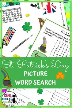 With this fun St. Comprehension Activities, Vocabulary Activities, Writing Activities, Holiday Activities, St Patricks Day Pictures, Teacher Resources, Classroom Resources, Teaching Ideas, Classroom Ideas