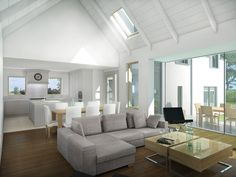 McNulty Smyth, Chartered Architects, Engineers, Belfast, Newry, Dublin - McNulty Smyth chartered architects & engineers Living Area, Living Spaces, Living Room, Self Build Houses, My Ideal Home, House Roof, Grey Walls, Great Rooms, Modern Farmhouse