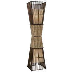Die Stehleuchte verbreitet in Ihrer Wohnung Natürlichkeit! Sie kommt mit einem braunen Korbgeflecht aus Bambus. Träumen Sie von Asien!