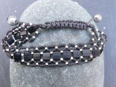 Bracelet Salikorn en perles Miyuki mat noires et par SaliKorn, €29.00